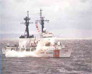 USCGC Mellon, test firing a Harpoon Anti-Ship Missile